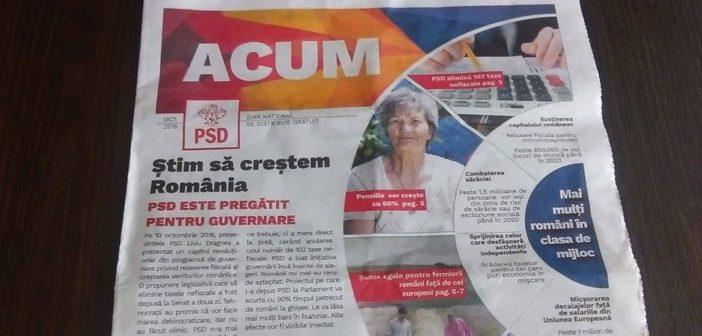 PSD folosește elevii pentru distribuirea de ziare neasumate